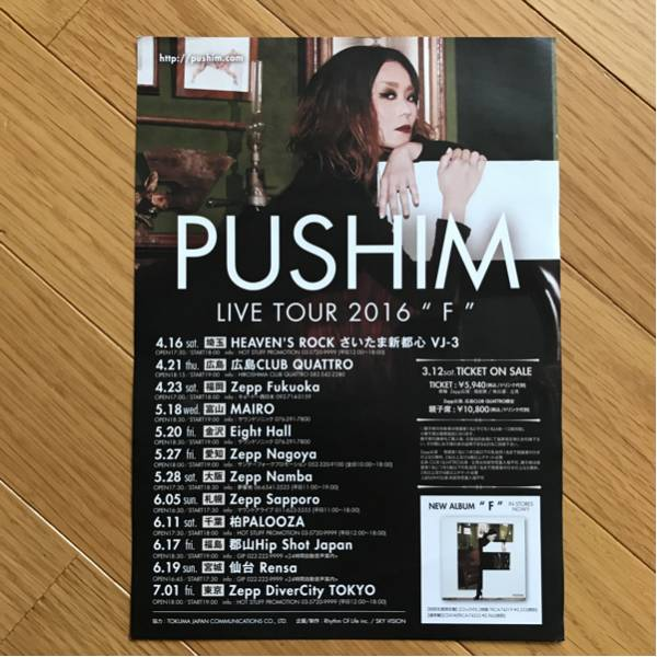 PUSHIN 2016F ツアー チラシ