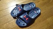 新品 アンダーアーマー メンズ ロッカーII SL シャワー サンダル 靴 紺 シューズ UNDER ARMOUR ★1円スタート