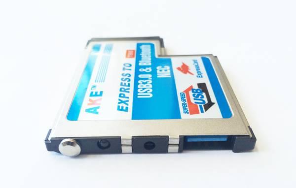 ノート用 USB3.0増設 ExpressCard/54 エクスプレスカード用 USB 3.0 + Bluetooth Comboアダプタノート用_画像3