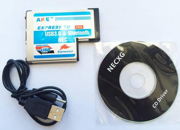 ノート用 USB3.0増設 ExpressCard/54 エクスプレスカード用 USB 3.0 + Bluetooth Comboアダプタノート用_画像2