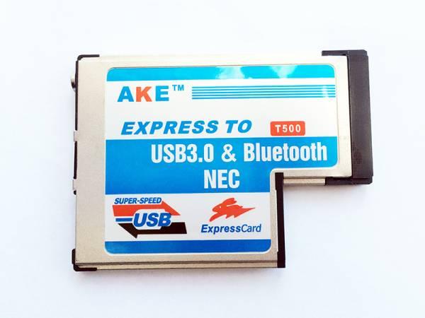 ノート用 USB3.0増設 ExpressCard/54 エクスプレスカード用 USB 3.0 + Bluetooth Comboアダプタノート用