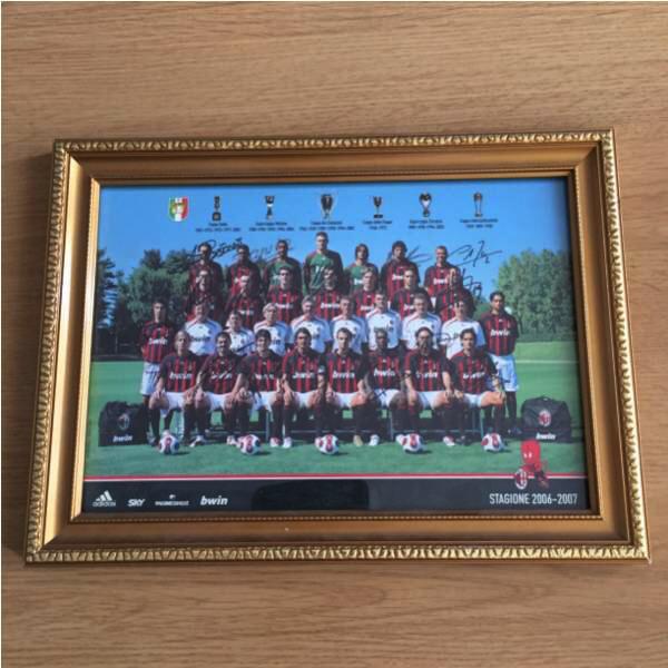 プレミアリーグACミラン 2006年 選手31名直筆サイン A4サイズ グッズの画像