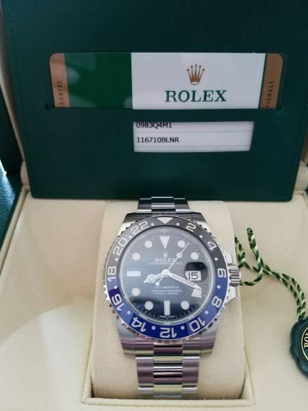正規店購入 新品未使用 ロレックス GMTマスター2 116710 BLNR