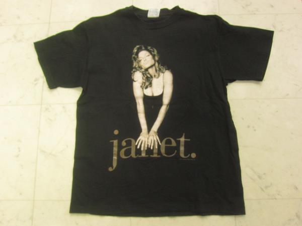 ジャネット・ジャクソン 93年ツアーTシャツ黒USA製L X0517