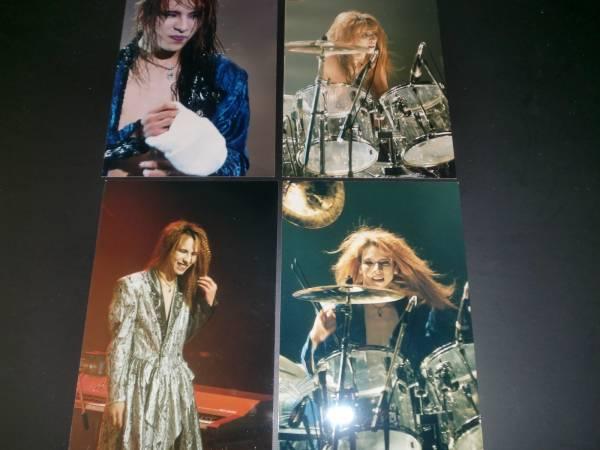 XJAPAN YOSHIKI 生写真8枚 ライブグッズの画像