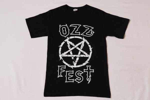 ★OZZy Osbourne★オジーオズボーン★OzzFese(オズフェス)2013★CREW(クルー)ロックバンドTシャツ★黒/Sサイズ