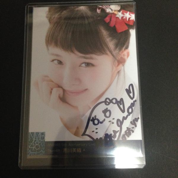 NMB48 市川美織 直筆 サイン入り 生写真 5th Anniversary Live 5周年 ライブグッズの画像