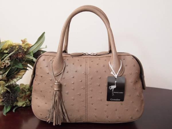 新品 本物 オーストリッチレザー 最高級 ハンドバッグ 定価7万 ( 検 イビザ ハマノ WAKO IBIZA 濱野 駝鳥 和装
