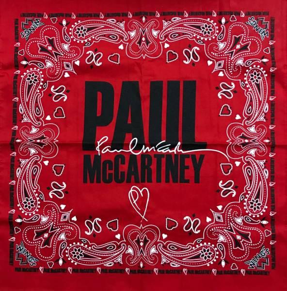 ポール・マッカートニー2017年公演 バンダナ 新品 ONE ON ONE スカーフ ビートルズ ウイングス 公演グッズ ライブグッズの画像