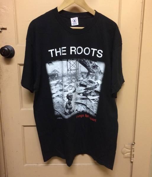 レア THE ROOTS ビンテージ Tシャツ 2PAC SNOOP DOGG OKAYPLAYER kanye カニエ nirvana rap tee XL SPIKE LEE 40ACRES