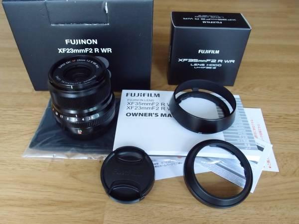 極美品 フジフィルム FUJINON XF23mm F2R WR Black レンズフード LH-XF35-2 セット