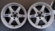 RAYS VOLK RACING TE37! 8.5J+30! 114.3! ホワイト2本! 鍛造! 売り切りです!  検S13S14S15R32R33R34JZX90JZX100JZX110