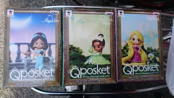 ディズニー Q POSKET QPOSKET Disney Characters petit ラプンツェル/ジャスミン/ティアナ 全3種セット フィギュア ディズニーグッズの画像