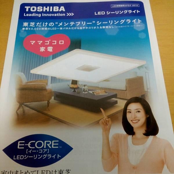 天海祐希 東芝 LEDシーリングライト カタログ 2010