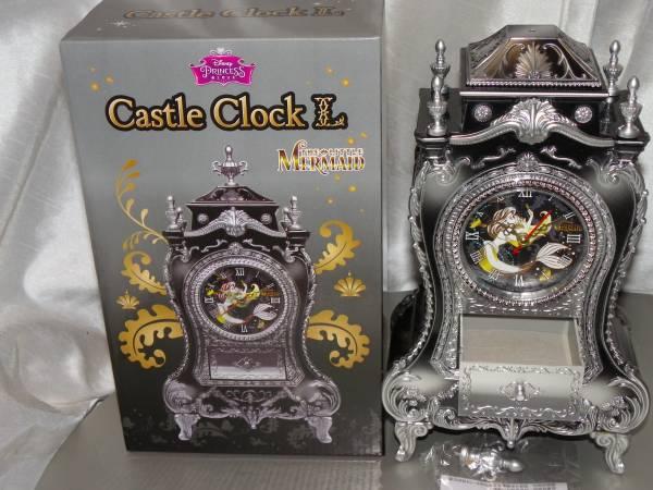 ディズニープリンセス キャッスルクロック リトルマーメイド アリエル The Little MERMAID お城型の時計/ジュエリーボックス内蔵 ディズニーグッズの画像