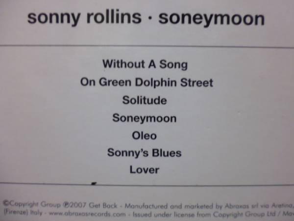 ★送料無料★sonny rollins/soneymoon 輸入盤 紙ジャケ_画像3