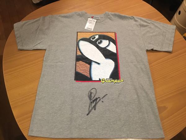 新品タグ付き 名古屋グランパス ストイコビッチ ピクシー 直筆サイン入り Tシャツ Jリーグ公式