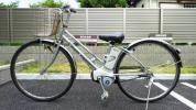 【引き取り限定】電動アシスト自転車 ビビSSシティ BE-ENK733【8.9Ahに交換済み】