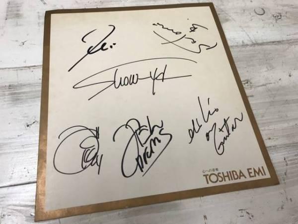 【東芝EMI専用サイン色紙】SHOW-YA ショーヤ メンバー全員の直筆サイン入り!!