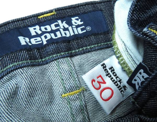 二点落札で送料無料! R048 ROCK&REPUBLIC ロックアンドリパブリック デニム パンツ メンズ ボトムス ジーンズ インディゴ サイズ 30_画像3