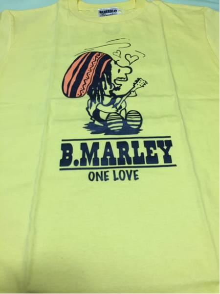 スヌーピー パロディ Tシャツ Bob Marley ボブマーリー◆Lサイズ◆イエロー◆未着用
