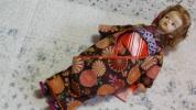 お誂え振り袖を着た日本仕様のタミーちゃん★髪飾りつまみ細工と、お草履付き★総裏つき正絹使い