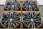 《即決品》トヨタ 210 クラウン アスリート 純正 8J +40 18in 4本 スパッタリング メッキ 3.5 アスリートG レクサスGS マークX セルシオ