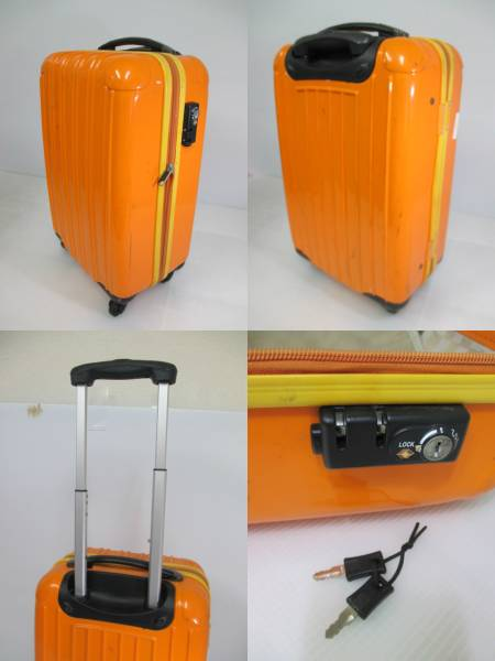 【鮮やかカラー!】 ★legend walker★ スーツケース 鍵付き OR_画像2
