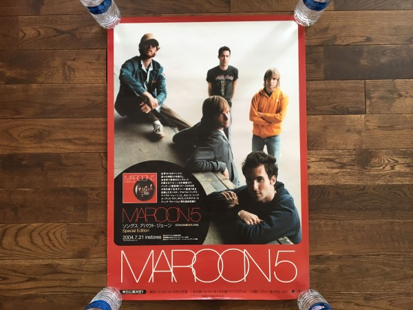 Maroon 5 - Songs About Jane 販促 ポスター マルーン5