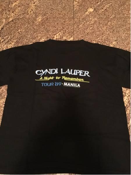 中古 Cyndi Lauper rap tee '89 tour Black Vintage pop Artist アーティスト ポップス 黒T ヴィンテージ ビンテージ シンディー ローパー