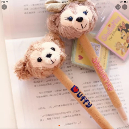 日本未発売 ダッフィー ボールペン ディズニーグッズの画像
