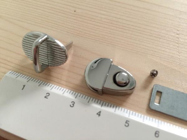 SK15S ミニ差し込み金具 高級光沢シルバー色 15×20mm/1組_画像2