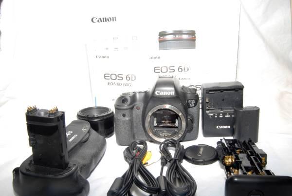 極上品★CANON キヤノン EOS 6D ボディ ★元箱・MB-D13付き
