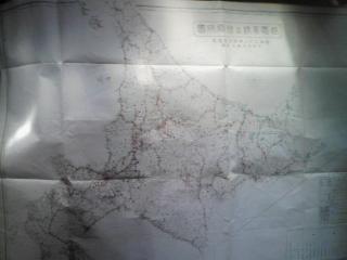 昭和22年 北海道の地図 北海地方商工局調[送電系統及発電所図]_画像1