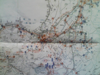 昭和22年 北海道の地図 北海地方商工局調[送電系統及発電所図]_画像2