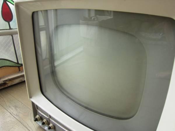 昭和レトロ MITSUBISHI 三菱 真空管テレビ 14T-160 ジャンク品_画像3