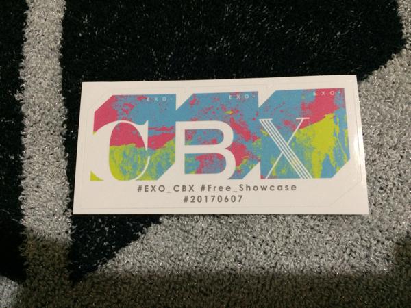 16.EXO-CBX ステッカー ガルアワ ポップアップ 非売品 デビュー記念 チャレンジ ショーケース/CUP