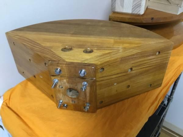自作1インチ用木製ホーン アダプター制作用木材6個付ペア_画像2
