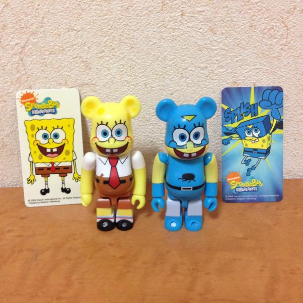 スポンジボブ 裏表 セット ベアブリック spongebob be@rbrick グッズの画像