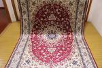 ペルシャ柄絨毯 150万ノット 新品未使用 160×230 訳あり アウトレット 赤