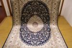 ペルシャ柄絨毯 150万ノット 新品未使用 160×230 訳あり アウトレット ネイビー