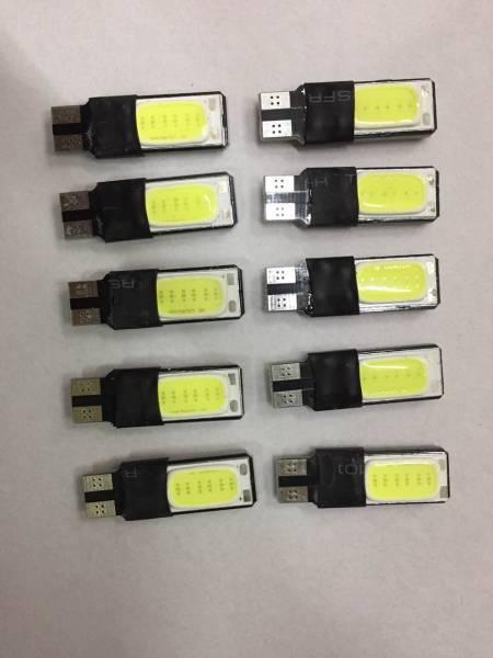 超明るい T10 LED 両面COB(極厚COB) ポジション 白 10個セット アルファード ヴェルファイア プリウス