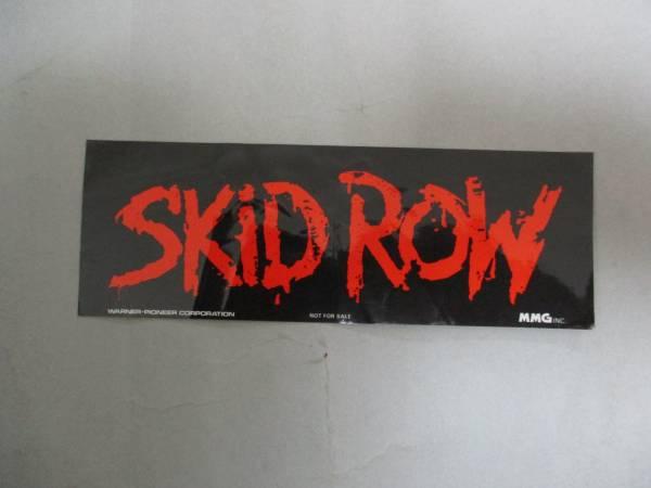 宣伝用ステッカー SKID ROW スキッド・ロウ