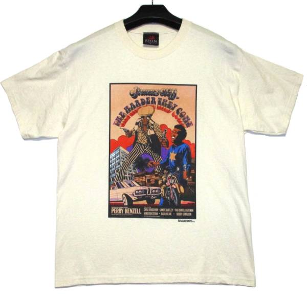 THE HARDER THEY COME ハーダーゼイカム JIMMY CLIFF ジミークリフ ZION Tシャツ L レゲエ 映画