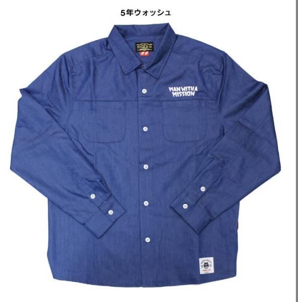 5年ウォッシュM即MAN WITH A MISSION Dead End in Tokyoツアーspring denim shirtスプリングデニムシャツDEiT pizza of death wanima mwam