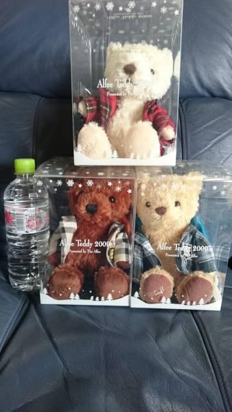 THE ALFEE teddy 2009 くま ぬいぐるみ 3個セット クリスマス限定 グッズの画像