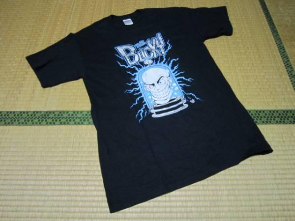 The BUCKY サイコビリー Tシャツ バンド バンT ロック 黒 ブラック M 美中古 / 60s 70s 80s 90s フェス 限定 コラボ