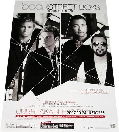 ●Backstreet Boys 「Unbreakable」 CD告知ポスター 非売品