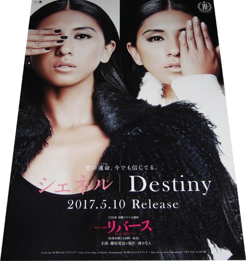 ●シェネル 『Destiny』 CD告知ポスター 非売品●未使用