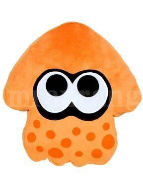 スプラトゥーン イカ クッション 高さ35cm オレンジ グッズの画像